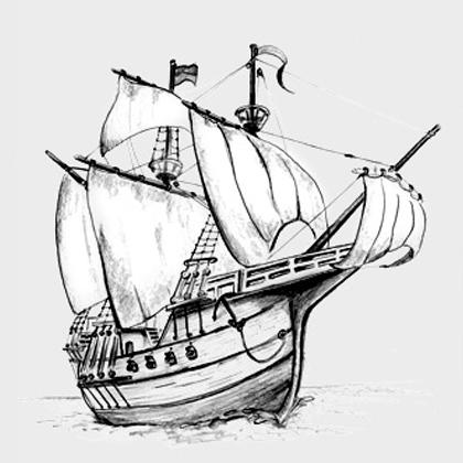 Segelschiff bleistiftzeichnung  maho graphics